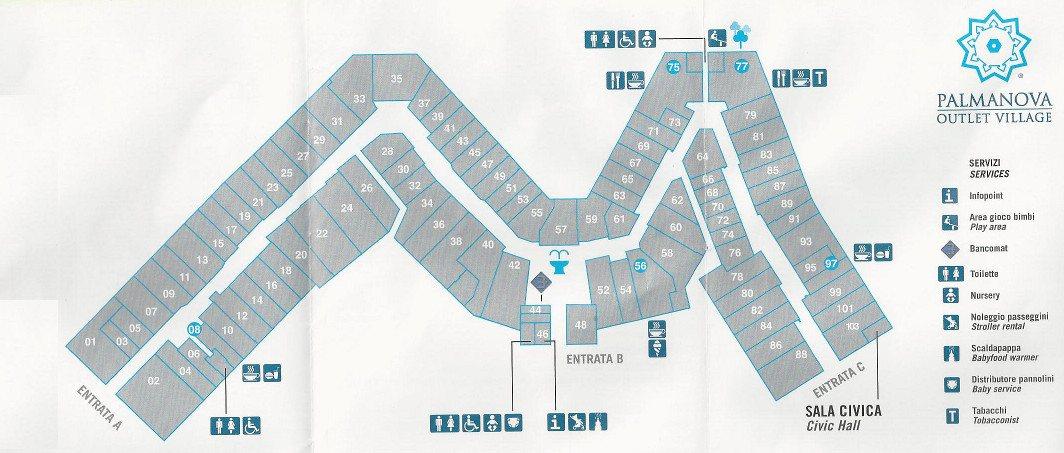 size 40 aaa8e e0aab Mappa del Palmanova Outlet Village - spaccioutlet.it