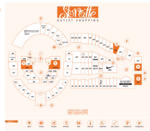 Mappa del Soratte Outlet Village