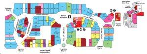 mappa negozi Valdichiana Outlet VIllage