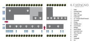Mappa Il Castagno Outlet Village