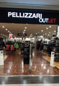 Ingresso del Pellizzari Outlet a Marcon